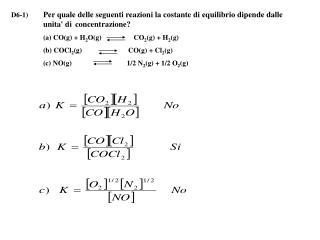 D6-2)Azoto ed idrogeno reagiscono formando ammoniaca secondo la reazione