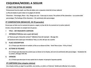 ESQUEMA/MODEL A SEGUIR