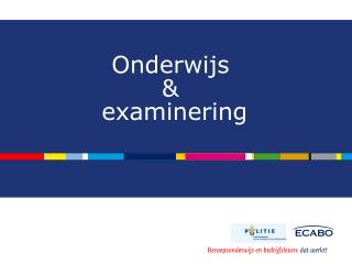 Onderwijs  &  examinering
