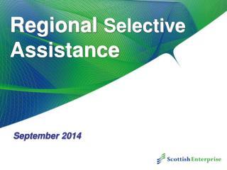 Regional  Selective  Assistance
