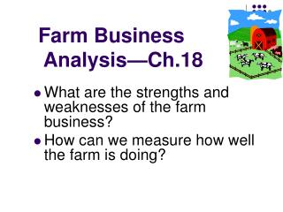 Farm Business  Analysis—Ch.18