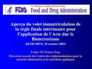 Personnel dirigeant de la FDA