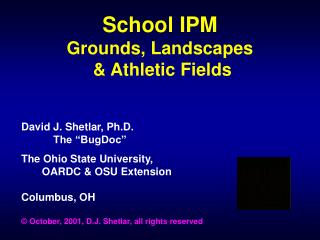 School IPM Grounds, Landscapes   Athletic Fields