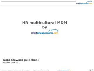 Data Steward guidebook  October 2011 – V1