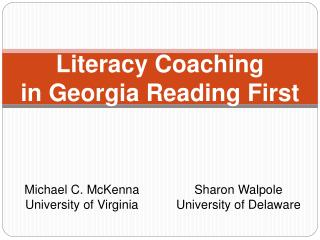 Literacy Coaching in Georgia Reading First