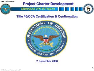Project Charter Development