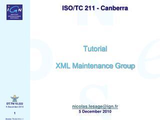 Tutorial XML Maintenance Group