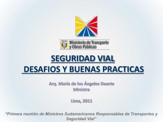 SEGURIDAD VIAL  DESAFIOS Y BUENAS PRACTICAS
