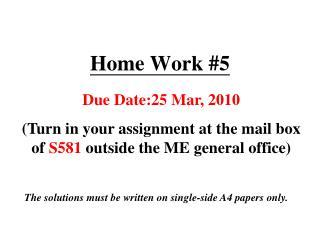 Home Work #5