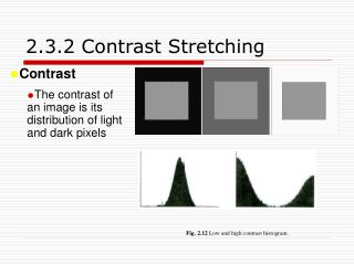 2.3.2 Contrast Stretching