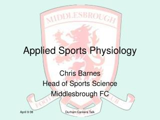 Applied Sports Physiology