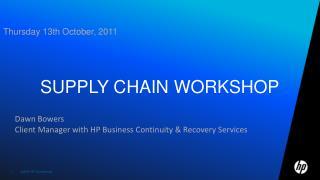 Supply chain workshop