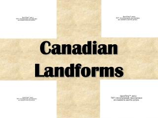 Canadian Landforms