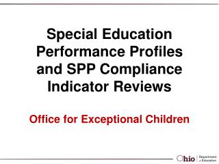 Office for Exceptional Children