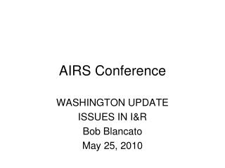 AIRS Conference