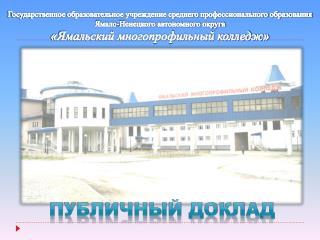 Государственное образовательное учреждение среднего профессионального образования
