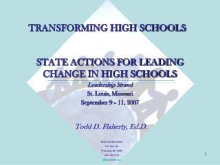 TRANSFORMING HIGH SCHOOLS