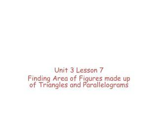Basic Geometric Properties