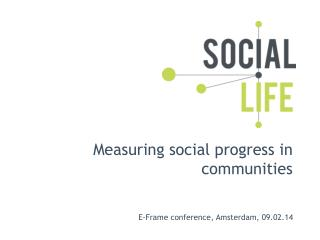Measuring social progress  in communities