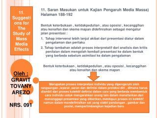 11. Saran  Masukan untuk Kajian Pengaruh  Media Massa)  Halaman  188-192