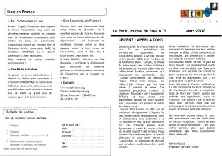 Le Petit Journal de Stea n °9