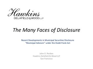The Many Faces of Disclosure