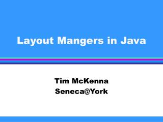 Layout Mangers in Java