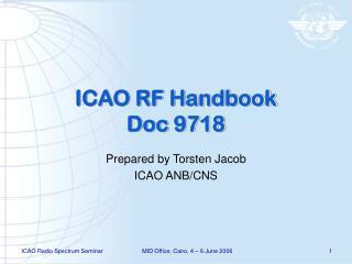 ICAO RF Handbook Doc 9718