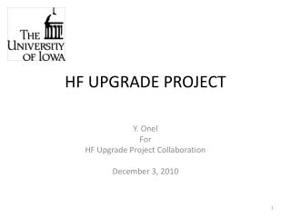 HF UPGRADE PROJECT