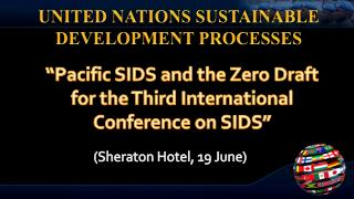 UNITED NATIONS SUSTAINABLE DEVELOPMENT PROCESSES