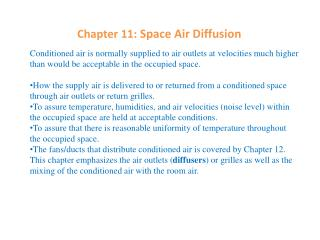 Chapter 11:  Space Air Diffusion
