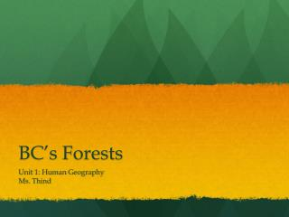 BC's Forests