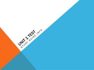 Unit 1 TEST