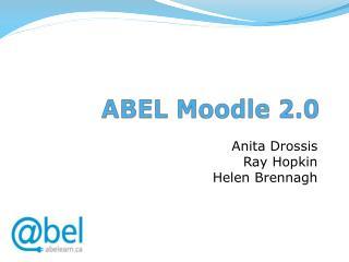 ABEL Moodle 2.0