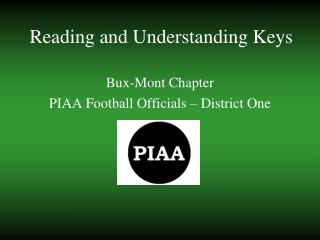 Reading and Understanding Keys