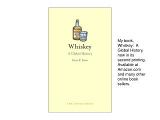 My book is part of a Series of brief books that are dedicated  to iconic food and  drink.