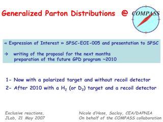 Generalized Parton Distributions  @