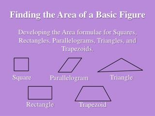 Finding the Area of a Basic Figure