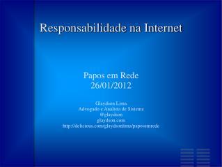 Responsabilidade na Internet