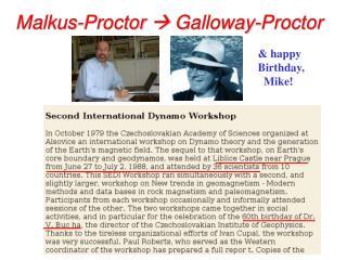Malkus-Proctor   Galloway-Proctor