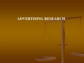 ADVERTISING RESEARCH
