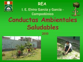 Conductas Ambientales  Saludables