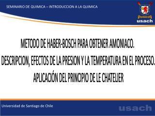 SEMINARIO DE QUIMICA – INTRODUCCION A LA QUIMICA