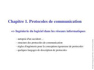 Chapitre 1. Protocoles de communication