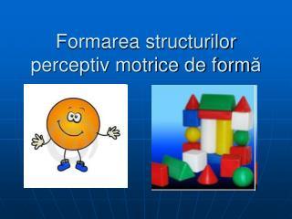 Formarea structurilor perceptiv motrice de form ă