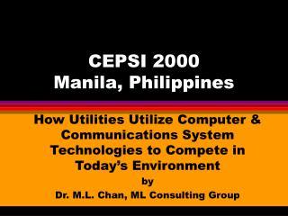 CEPSI 2000 Manila, Philippines