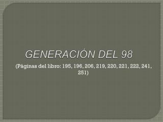 GENERACI�N DEL 98