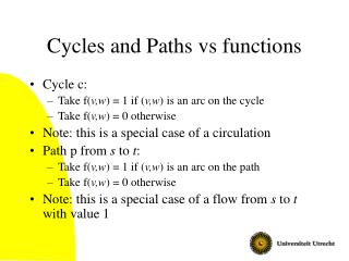 Cycles and Paths vs functions