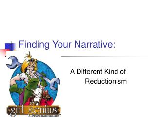 Finding Your Narrative: