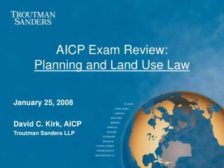 AICP Exam Review: Planning and Land Use Law